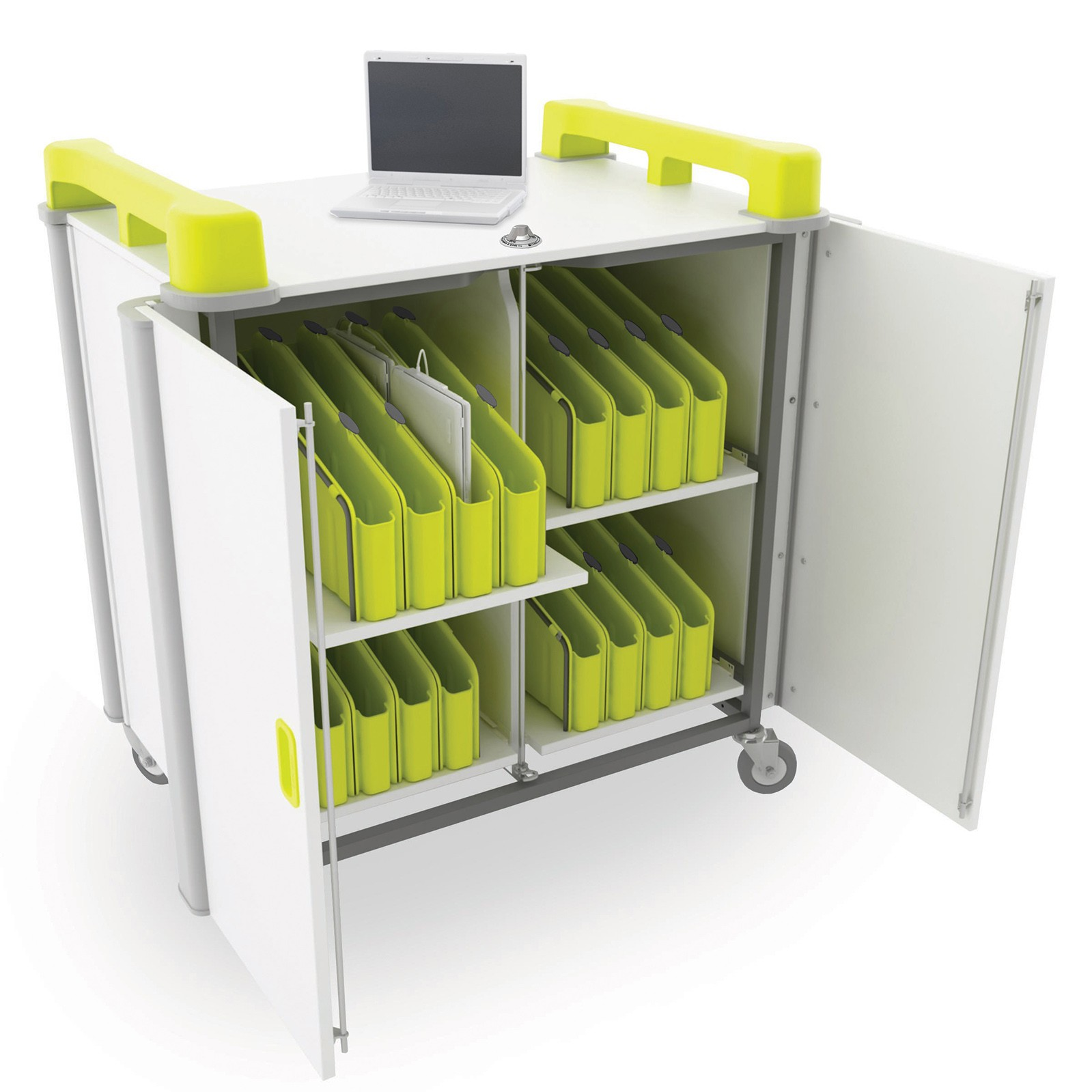 ICTtechie Laptop Trolley Chromebook Trolley Computer Suite LapCabby